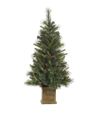 4 '' Gold Gilt-Tip Pine Tree