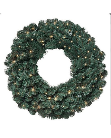 30in. Oregon Fir Wreath with Lights