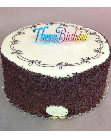 7th Heaven Cake 9 inch w/HB Sign
