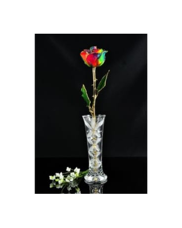 Rainbow Forever Rose In A Vase In Yelm Wa Yelm Floral