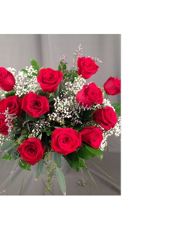 12 Gorgeous Long Stem Cut Red Roses