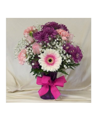 Purple Delight Vase Arrangement