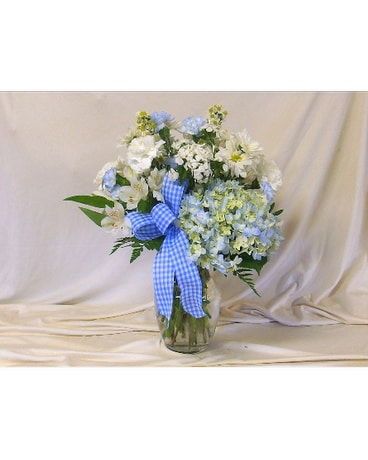 Blue Skies Vase Arrangement