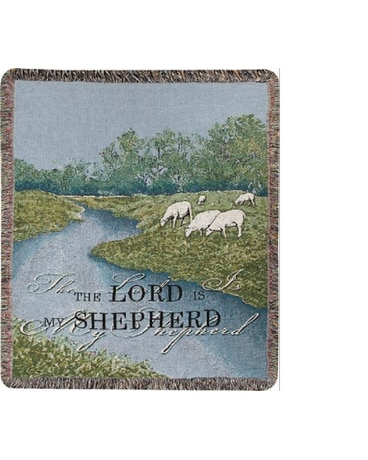 The Lord is my Shepherd Tapestry Throw