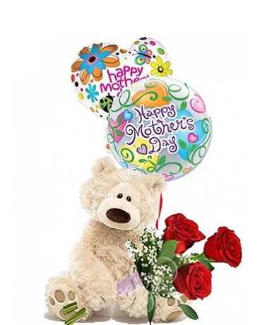 Medium Mothers Day Bear W Roses