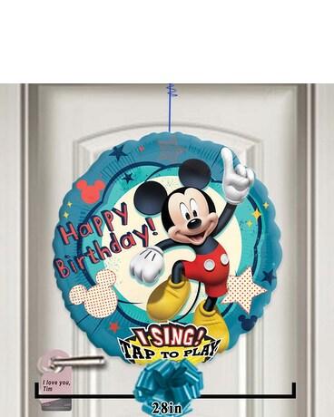 Quick View Happy Birthday Mickey Singing Balloon