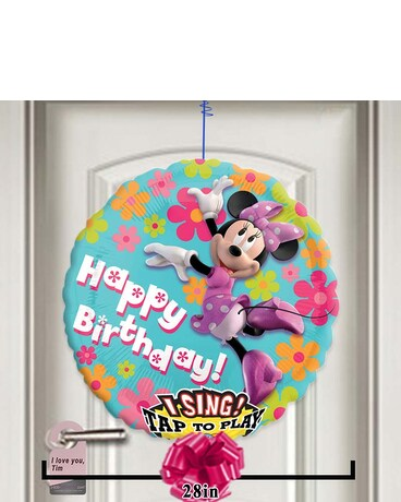 Quick View Happy Birthday Minnie Singing Balloon
