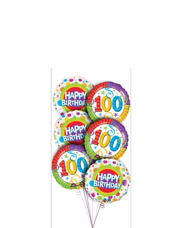 Quick View 100th Birthday Balloon Bouquet
