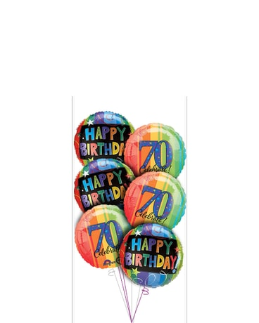 70th Birthday Balloon Bouquet