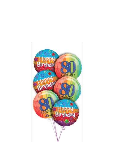 80th Birthday Balloon Bouquet