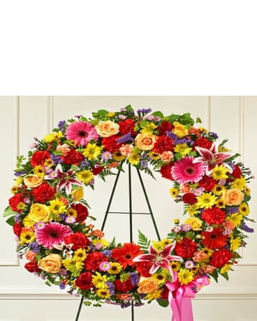 Wreath of Flowers for the Cemetery
