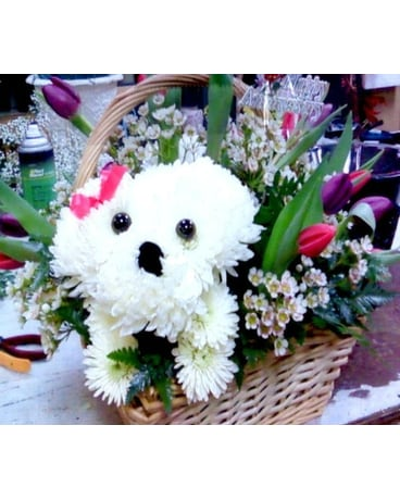 How Much Is That Doggy In The Basket Bouquet
