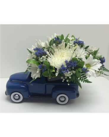 Blue Ford Pickup Bouquet