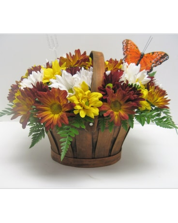 Autumn Joy Daisy Basket