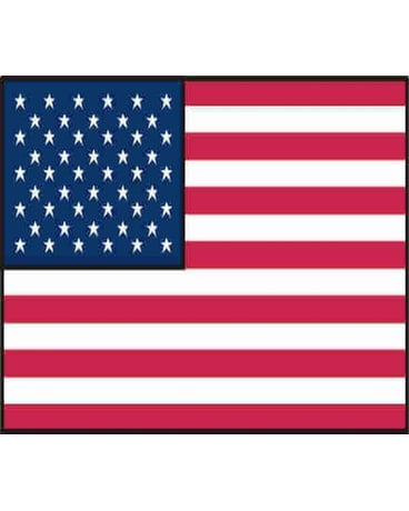 3'x 5' polyester US Flag with grommets