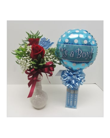 Its A Boy Rose Bud Vase And Bubble Gum Cigar Comb In Waverly Ny