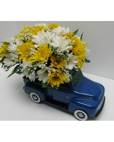 Ford Truck Load Of Daisies