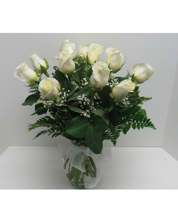 Roses in athens pa sayre pa delivery waverly ny jaynes flowers quick view simply white roses mightylinksfo