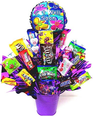Quick View CB216 Get Well Goodies Candy Bouquet