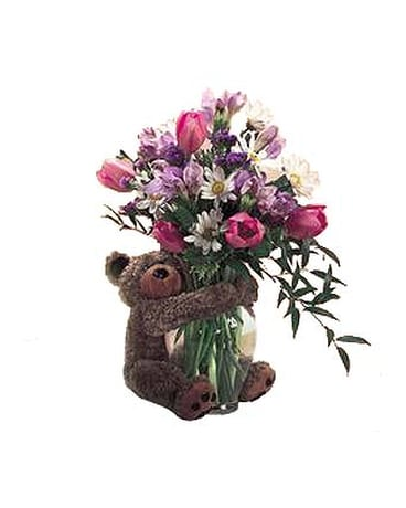 FF40 ''Bear Hugs'' Vase Arrangement