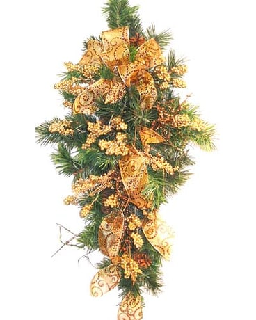 HS2431 ''Gold Berries'' Artificial Swag