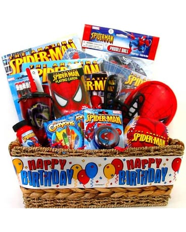 KGB16 Spider Man Birthday Gift Basket