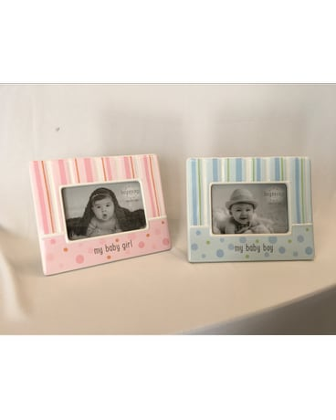 Custom products delivery merrick ny flowers by voegler quick view ceramic baby picture frame negle Images