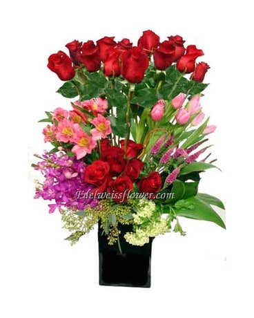 Rosy Garden Flower Bouquet