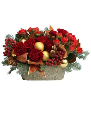 Christmas tulips and roses