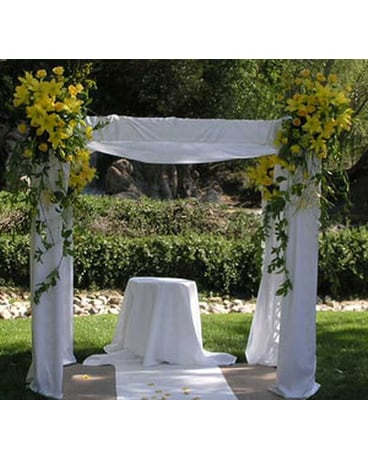Sunshine Wedding Flower  Chuppah
