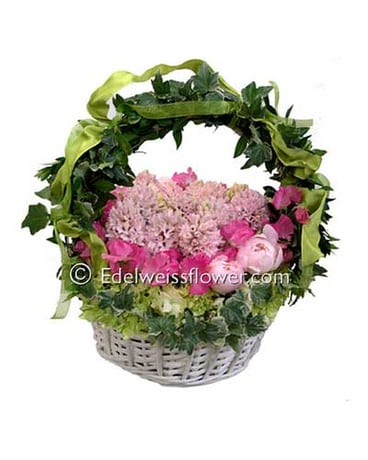 Fragrant Basket Flower Bouquet