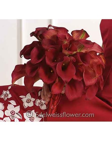 Red Calla Nosegay Floral Bouquet