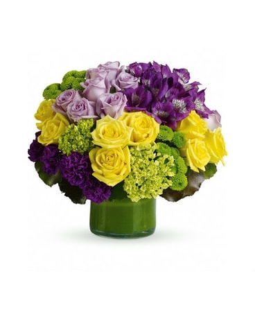 Purple wedding flowers and event flowers delivery santa monica ca quick view simply splendid lavender yellow roses mightylinksfo