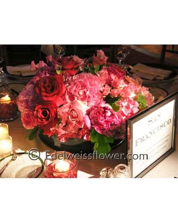Rose & Peony Lush Floral Centerpiece