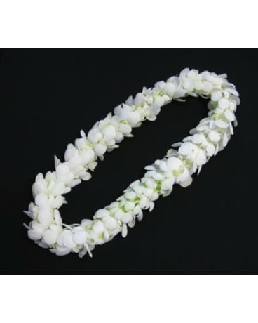 WHITE ORCHID DOUBLE LEI