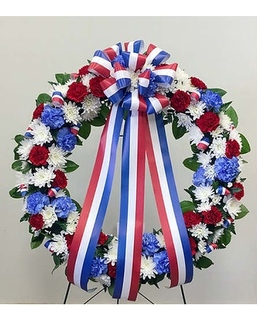Red, White & Blue Wreath