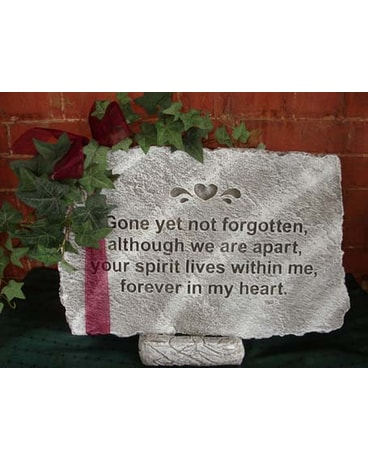 Gone yet not forgotten garden stone