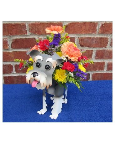 MINI SCHNAUZER PLANTER-local delivery only