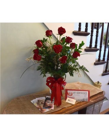 Dozen Red Roses and $50 Vivid Gift Certificate