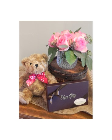 Precious Pink with Chocolates and Bear