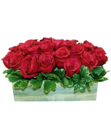 Roses (Rectangular Handmade Wood Box)