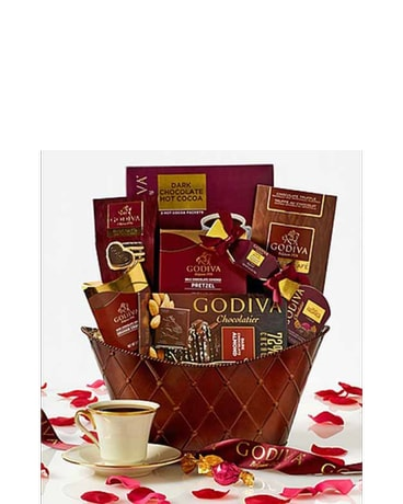 Godiva Valentine Chocolates Basket In Bradenton Fl Oneco Florist