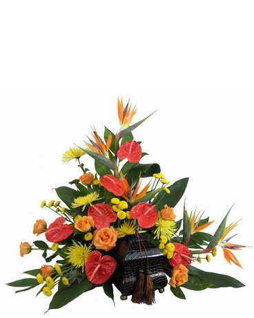 Tropical Paradise Cremation Setting