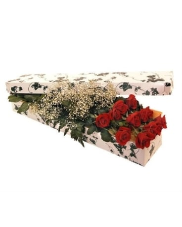 Dozen Red Roses in a Box