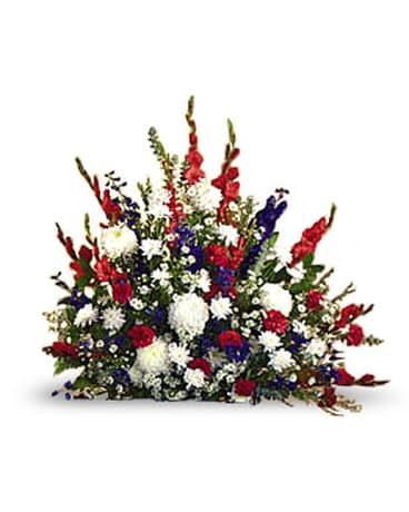 Red White Blue Arrangement In Inglewood Ca Inglewood Park Flower Shop