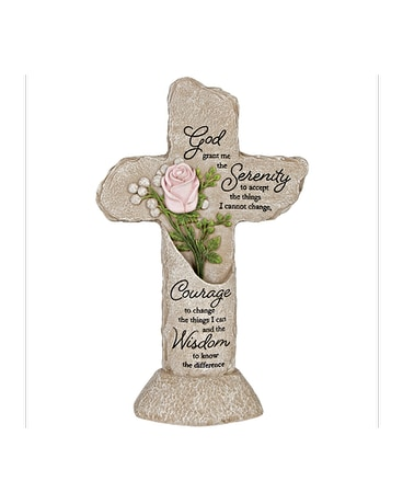 Heavenly Lights - Pedestal Cross - Serenity Prayer