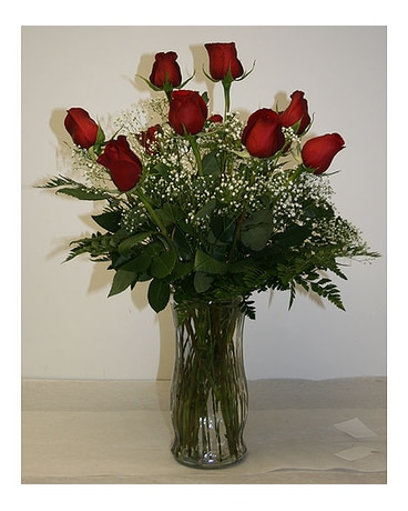 Long Stem Red Roses Arranged