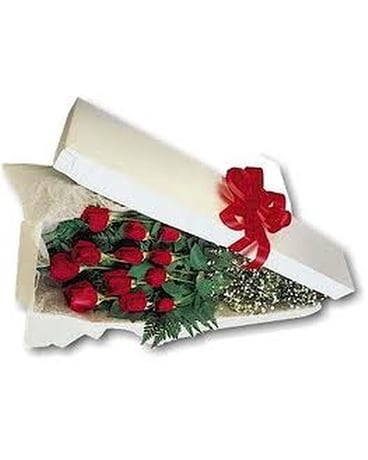 1 Dozen Long Stem Boxed Roses