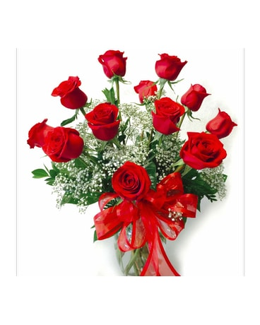 Timeless Dozen Long Stem Red Roses