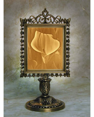 Calla Lilly Lithophane Lamp
